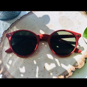 Red matte sunglasses